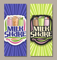 Banners for milk shake vector