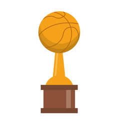 basketball trophy cup championship vector image