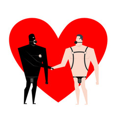 bdsm love slaves handshake friendship bandage and vector image