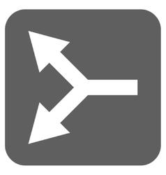 Bifurcation Arrow Left Flat Squared Icon vector