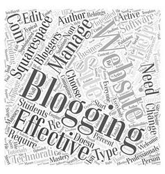 blogging websites Word Cloud Concept vector image