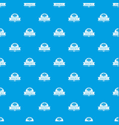 buckle vintage pattern seamless blue vector image
