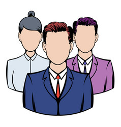 business team icon icon cartoon vector image