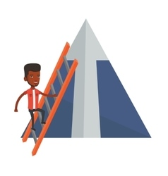 Businessman climbing on mountain vector