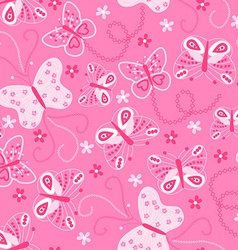 Butterfly embroidery seamless pattern vector