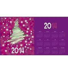 Calendar to a new 2014 year vector
