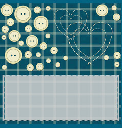 card with hearts and buttons vector image