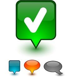 Check speech comic icons vector