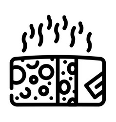 Cheese smell line icon line vector