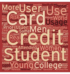 College Students Should Have A Student Credit Card vector image