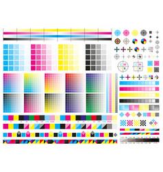 Color cmyk management elements offset print vector