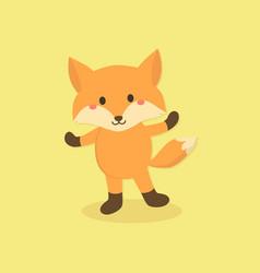 cute fox cartoon character vector image