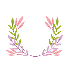 decorative branches foliage leaves isolated icon vector image