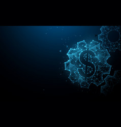 Dollar with gears from lines and particle vector