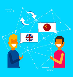 English and chinese online chat translation vector