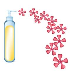 Essential oil and Red Rose Geranium vector