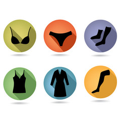 female fashion underwear cloth sign womens vector image