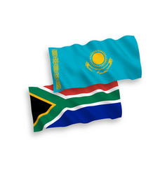 Flags kazakhstan and republic south africa vector