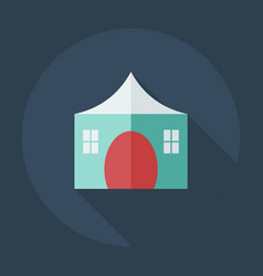 Flat modern design with shadow icons country house vector