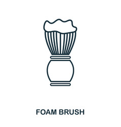 Foam brush icon flat style icon design ui vector