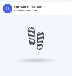 footsteps icon filled flat sign solid vector image