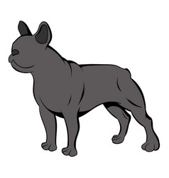 French bulldog icon cartoon vector