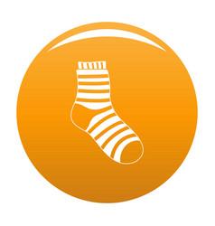 Fuzzy sock icon orange vector