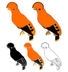 Galo da serra bird in profile view vector