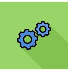 Gear Flat Icon vector image