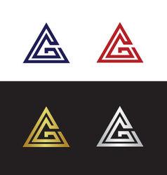 Geometric letter g vector
