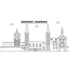 Germany bamberg line skyline vector