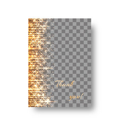 Gold background with twinkling lights vector