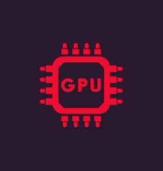 Gpu icon graphic chipset vector