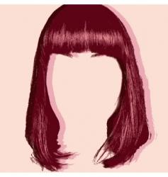 hair cut pop art style vector image