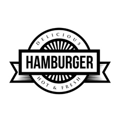 Hamburger vintage stamp vector