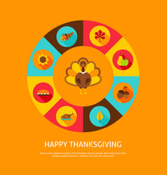 happy thanksgiving concept vector image