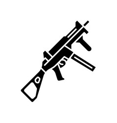 hk ump weapon glyph icon virtual video game vector image