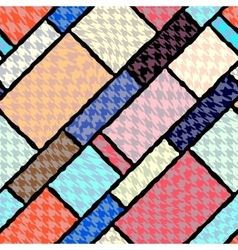 Houndstooth geometric pattern vector image