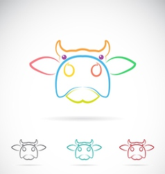 Image of an cow face vector