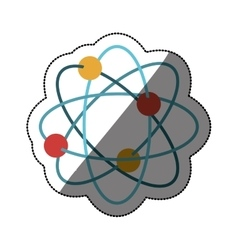 Isolated atom design vector image
