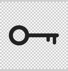 key icon in flat style isolated unlock symbol for vector image