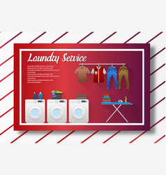 Laundry service banner design vector