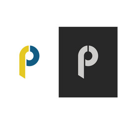 letter p abstract logo vector image