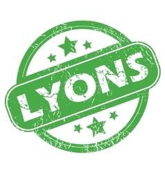 Lyons green stamp vector
