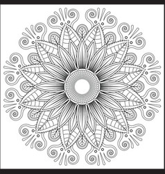 mandala floral flower oriental coloring book page vector image