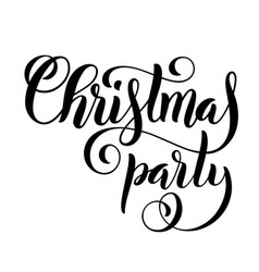 Merry christmas party handwritten lettering vector