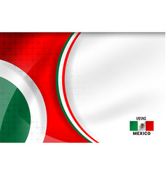 Mexico color background vector