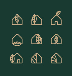 modern professional logo set eco house vector image