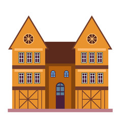old european style residential building and vector image