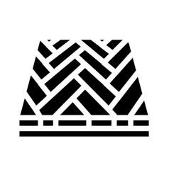 Parquet floor glyph icon vector